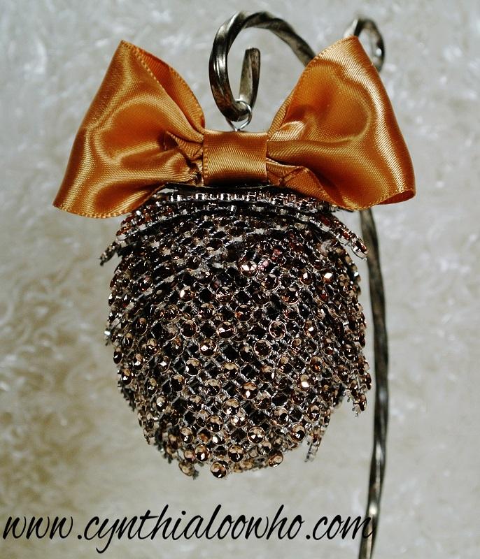 bling mesh pinecone