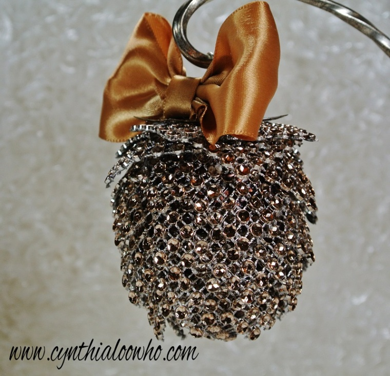 bling mesh pinecone