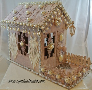 Shabby chic gingerbread house