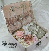 Shabby Chic Vintage Suitcase