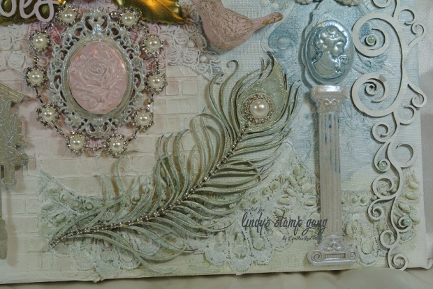 Nantucket Pearls Mixed Media Canvas